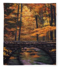 Ozark Stream Fleece Blanket