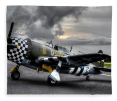 P-47 Sunset Fleece Blanket