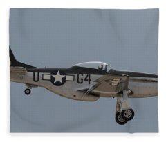P-51 Landing Configuration Fleece Blanket