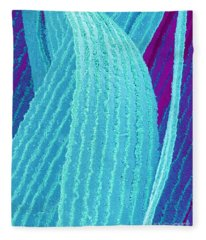P4240195 - Eye Lens Fiber  Fleece Blanket