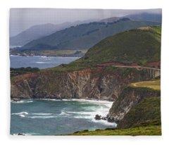 Pacific Coast View Fleece Blanket