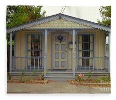 Pacific Grove Cottage Fleece Blanket