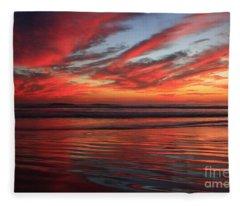 Oceanside Reflections Fleece Blanket