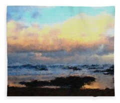 Oregon Coast Fleece Blankets
