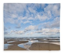 Pacific Ocean Beach At Low Tide Fleece Blanket