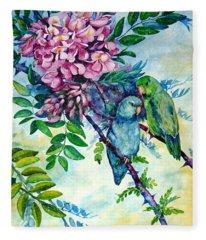 Pacific Parrotlets Fleece Blanket