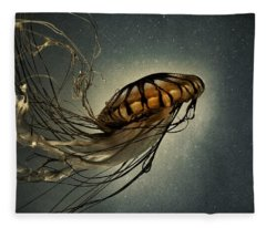 Pacific Sea Nettle Fleece Blanket