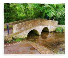 Pack Horse Bridge Fleece Blanket