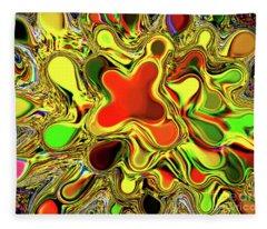 Paint Ball Color Explosion Fleece Blanket
