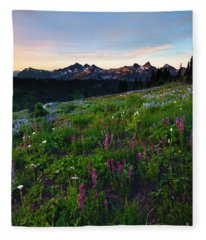 Paintbrush Sunrise Fleece Blanket