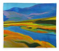 Painted Hills Fleece Blanket