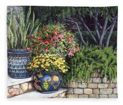 Painted Pots Fleece Blanket