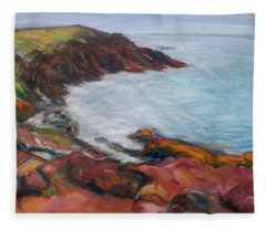 Painterly - Bold Seascape Fleece Blanket