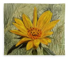 Painterly Sunflower Fleece Blanket