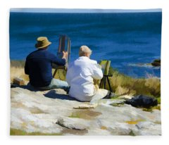 Painting The View Fleece Blanket