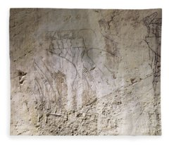 Painting West Wall Tomb Of Ramose T55 - Stock Image - Fine Art Print - Ancient Egypt Fleece Blanket