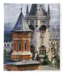 Palace Of Culture Fleece Blanket