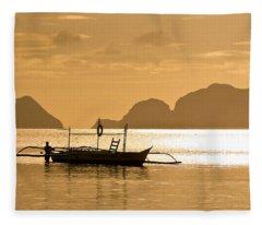 Palawan Sunset Fleece Blanket