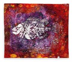 Paleo Fish Fleece Blanket