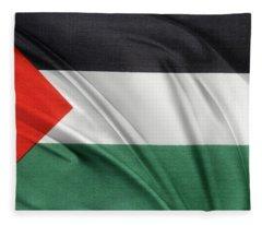 Palestine Flag Fleece Blanket