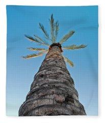 Palm Tree Looking Up Fleece Blanket