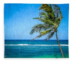 Palm Tree Swaying Fleece Blanket