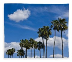 Palm Trees In San Diego California No. 1661 Fleece Blanket