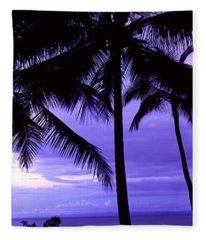 Palm Trees On The Coast, Colombia Fleece Blanket
