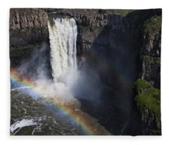 Palouse Falls II Fleece Blanket