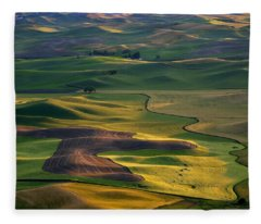 Palouse Shadows Fleece Blanket