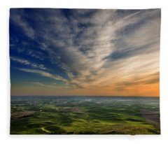 Palouse Sunset Fleece Blanket