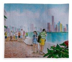 Panama City Panama Fleece Blanket