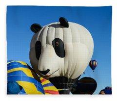 Panda Balloon Fleece Blanket
