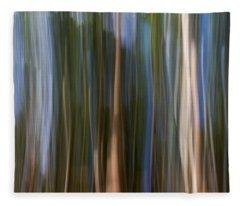 Panning Forest 3 Fleece Blanket