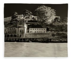 Panorama Alcatraz Up Close Fleece Blanket