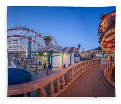 Panorama Giant Dipper Goes 360 Round And Round Fleece Blanket