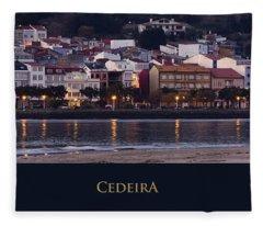 Panorama Of Cedeira Galicia Spain Fleece Blanket