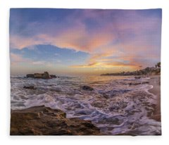 Panorama The Whole Way Round The Cove Fleece Blanket