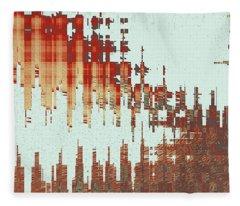 Panoramic City Reflection Fleece Blanket