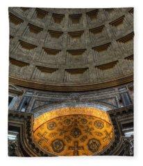 Pantheon Ceiling Detail Fleece Blanket