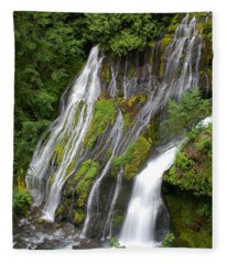 Panther Creek Falls 2- Washington Fleece Blanket