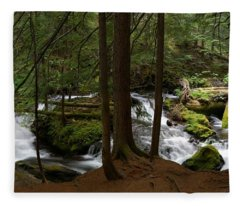 Panther Creek Panorama- Washington Fleece Blanket