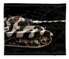 Panzer Tiger II Side Bk Bg Fleece Blanket