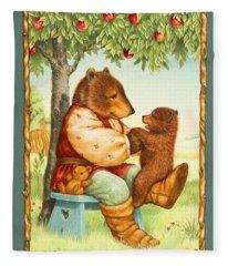 Papa Bear Fleece Blanket