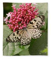 Paper Kite Butterfly Fleece Blanket