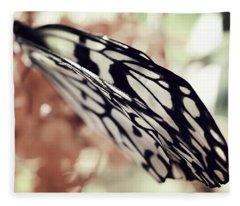 Paper Kite Butterfly Wings Fleece Blanket