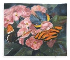 Papillons Fleece Blanket