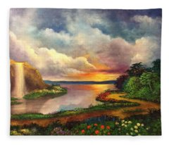 Paradise And Beyond Fleece Blanket