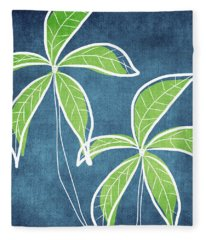 Paradise Palm Trees Fleece Blanket