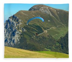 Paragliding In The Mountains II Fleece Blanket